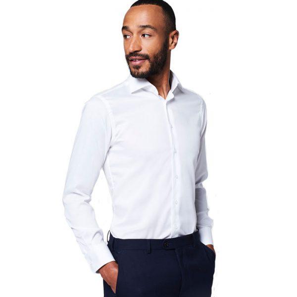 wit overhemd van Michaelis met extra lange mouw