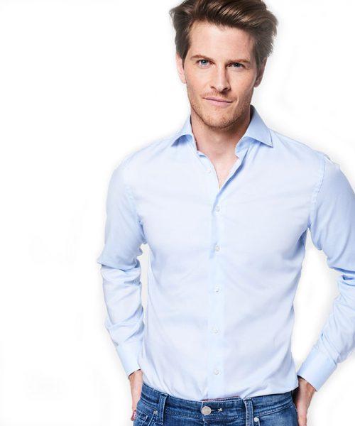 lichtblauw overhemd van Michaelis