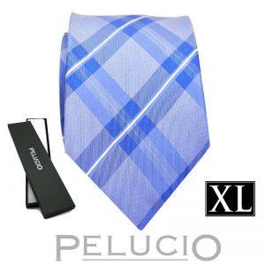 blauwe-pelucio-ruit-stropdas-in-xl-uitvoering