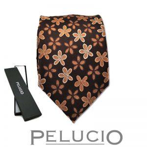 pelucio-bloemen-stropdas-bruin.jpg