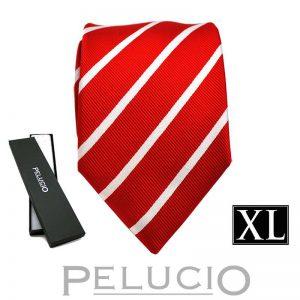rode-witte-streep-stropdas-van-pelucio-in-xl-uitvoering