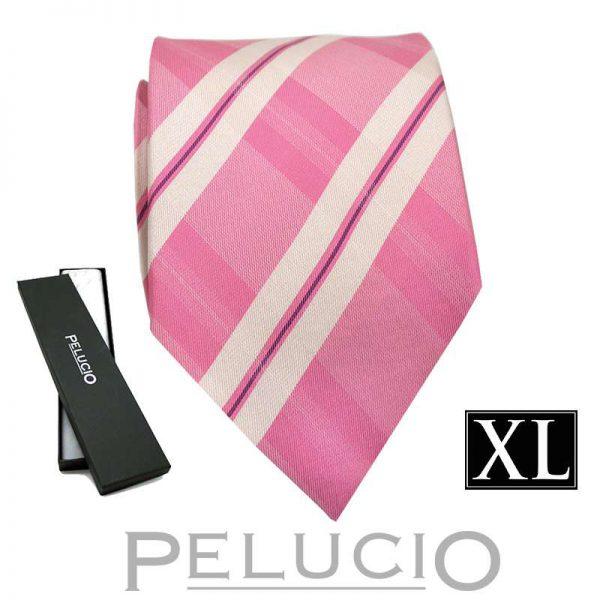 roze-pelucio-ruit-stropdas-in-xl-uitvoering