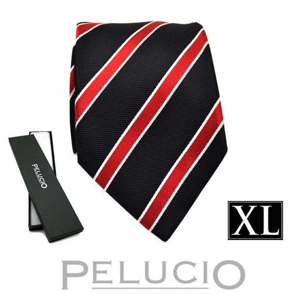 zwart-rode-streep-stropdas-van-pelucio-in-xl-uitvoering