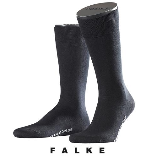 Zwarte Falke sokken Cool 24/7