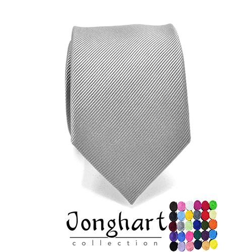 lichtgrijze effen stropdas